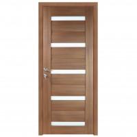 Usa de interior din lemn cu geam BestImp G1-88-J stanga / dreapta stejar auriu 203 x 88 cm