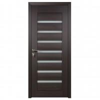 Usa de interior din lemn cu geam BestImp G3-88-W stanga / dreapta wenge 203 x 88 cm