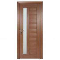 Usa de interior din lemn cu geam BestImp G4-68-J stanga / dreapta stejar auriu 203 x 68 cm
