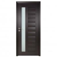 Usa de interior din lemn cu geam BestImp G4-78-W stanga / dreapta wenge 203 x 78cm