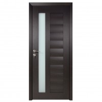 Usa de interior din lemn cu geam BestImp G4-88-W stanga / dreapta wenge 203 x 88 cm
