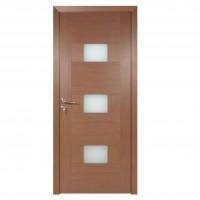 Usa de interior din lemn cu geam BestImp G5-78-J stanga / dreapta stejar auriu 203 x 78 cm