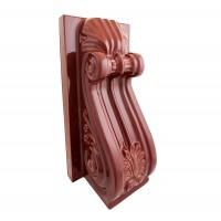 Stalp ornament teracota maro