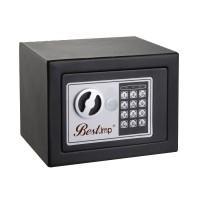 Seif perete BestImp 17EF, electronic cu 2 bolturi, din fier, negru, 230 x 170 x 170 mm