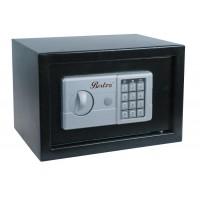 Seif perete BestImp 25EK, electronic cu 2 bolturi, din fier, negru, 350 x 250 x 250 mm