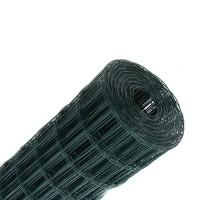 Plasa gard ornamental Grunman, acoperita cu PVC, verde, 1,5 x 25 m (2,1 x 100 x 60 mm)