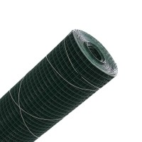 Plasa gard ornamental Grunman, acoperita cu PVC, verde, 1 x 10 m (1,2 x 13 x 13 mm)