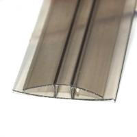 Profil policarbonat H, bronz, 6 x 6000 mm