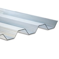 Policarbonat compact trapez, transparent, 2000 x 970 x 0.9 mm