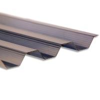 Policarbonat compact trapez, bronz, 2000 x 970 x 0.9 mm