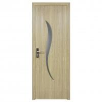 Usa de interior din lemn cu geam Super Door F03-68-P stanga / dreapta gri 203 x 68 cm