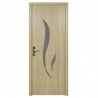 Usa de interior din lemn cu geam Super Door F03-78-P stanga / dreapta gri 203 x 78 cm