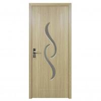 Usa de interior din lemn cu geam Super Door F07-88-P stanga / dreapta gri 203 x 88 cm