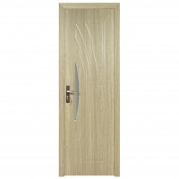Usa de interior din lemn cu geam Super Door F11-68-P stanga / dreapta gri 203 x 68 cm