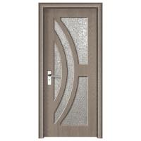 Usa de interior din lemn cu geam Super Door F11-88-P stanga / dreapta gri 203 x 88 cm