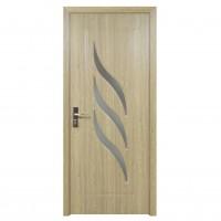 Usa de interior din lemn cu geam Super Door F12-78-P stanga / dreapta gri 203 x 78 cm