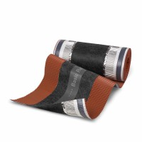 Banda coama Bramac Basic Roll, rosu caramiziu, 5000 x 295 mm