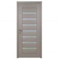 Usa de interior din lemn cu geam BestImp G3-68-G stanga / dreapta gri 203 x 68 cm