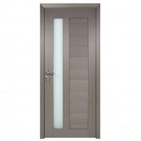 Usa de interior din lemn cu geam BestImp G4-88-G stanga / dreapta gri 203 x 88 cm