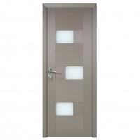 Usa de interior din lemn cu geam BestImp G6-68 G stanga / dreapta gri 203 x 68 cm