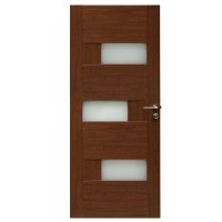 Usa de interior din lemn cu geam BestImp G6-68 J stanga / dreapta stejar auriu 203 x 68 cm