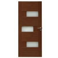 Usa de interior din lemn cu geam BestImp G6-78 J stanga / dreapta stejar auriu 203 x 78 cm