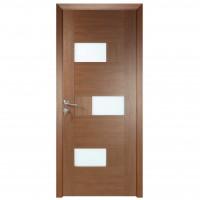 Usa de interior din lemn cu geam BestImp G6-88 J stanga / dreapta stejar auriu 203 x 88 cm