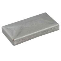Capac otel pentru teava rectangulara, nichelat, 60 x 40 mm