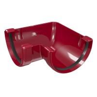 Coltar de jgheab Regenau, 90 grade, PVC, unghi interior / exterior, PVC, semicircular, bordo, 125 mm