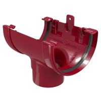 Racord jgheab burlan Regenau, PVC, bordo, 125/80 mm