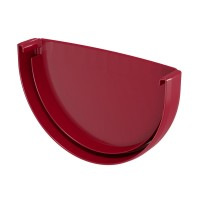 Capac de jgheab Regenau, PVC, semicircular, bordo, 125 mm