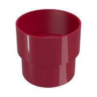 Mufa pentru burlan Regenau, PVC, circulara, bordo, 80 mm