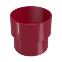 Mufa pentru burlan Regenau, PVC, circulara, bordo, 100 mm