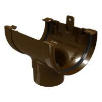 Racord jgheab burlan Regenau, PVC, maro, 125/80 mm