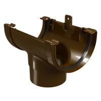 Racord jgheab burlan Regenau, PVC, maro, 125/100 mm