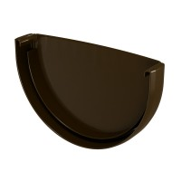 Capac de jgheab Regenau, PVC, semicircular, maro, 125 mm