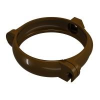 Bratara PVC pentru fixare burlan Regenau 80 mm maro