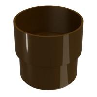 Mufa pentru burlan Regenau, PVC, circulara, maro, 80 mm