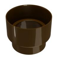 Reductor burlan Regenau, PVC, maro,  100 / 80 mm