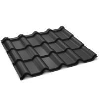 Tigla metalica Bilka Balcanic, negru mat (RAL 9005), 1180 x 1180 x 0.5 mm