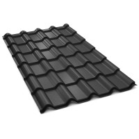 Tigla metalica Bilka Balcanic, negru mat (RAL 9005), 2230 x 1180 x 0.5 mm