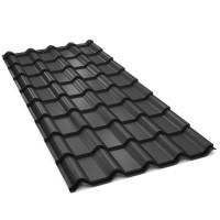 Tigla metalica Bilka Balcanic, negru mat (RAL 9005), 2930 x 1180 x 0.5 mm