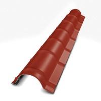 Coama mare Bilka, rosu inchis mat (RAL 3009), 2000 x 290 x 0,45 mm