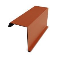 Bordura fronton Bilka caramiziu mat (RAL 8004) 2000 x 312.5 x 0.5 mm