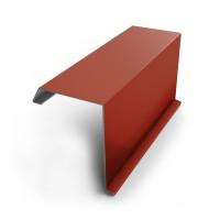 Bordura fronton Baudeman rosu lucios (RAL 3011) 2000 x 312.5 x 0.45 mm