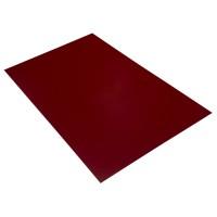 Tabla plana Bilka, rosu lucios (RAL 3011), 2000 x 1250 x 0,45 mm