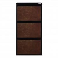 Pantofar Slim 3879, negru + maro stone, 50 x 105 x 15 cm, 1C