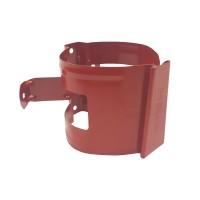 Colier pentru burlan Bilka, 90 mm, rosu RAL 3011