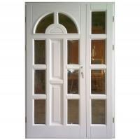 Usa intrare din lemn, Zsuzsana, alba, cu sticla bombata, stanga, 138 x 208 cm
