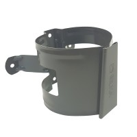 Colier pentru burlan Bilka, 90 mm, gri inchis RAL 7011
